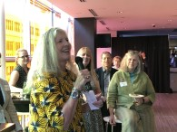 Leah Garchik shares stories and tips at the June Mixer.