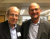 Michael Krasny and Dan Zoll at SFPRRT luncheon