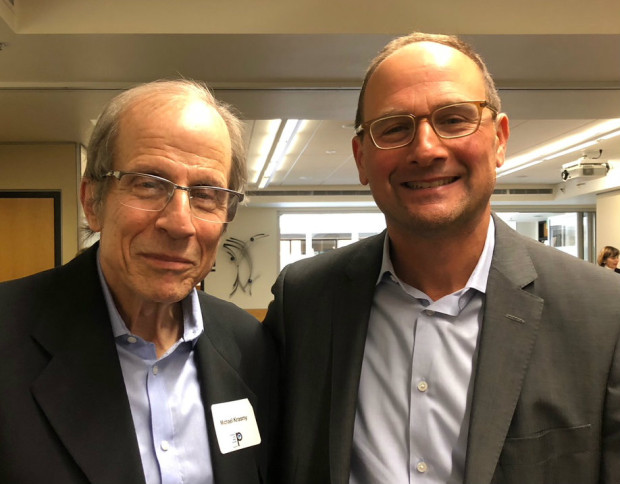Michael Krasny and Dan Zoll at SFPRRT luncheon