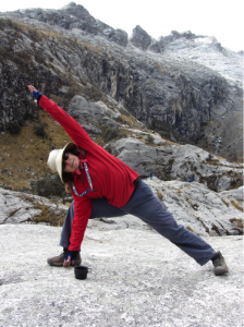 Blodwen Tartner on a trek in the Cordillera Blanca, Peru